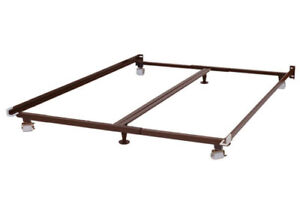 single or double or queen metal frame can deliver for a fee