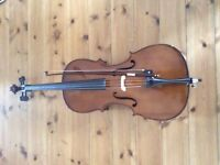 1/2 size Stentor cello with padded case.