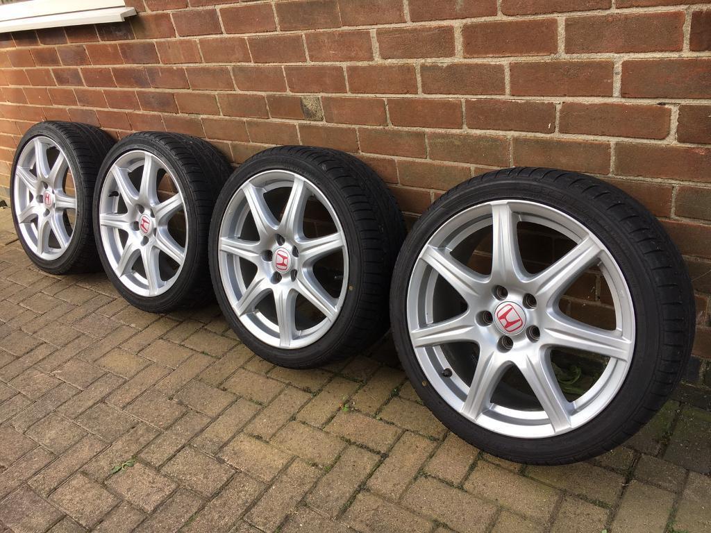 Honda Civic Type R Fn2 18 Inch Alloy Wheels Amp Tyres Bridgestone Potenza In Newthorpe