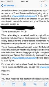 WestJet travel money