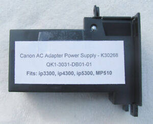 Canon Printer Power Supply Adapter ~ ip3300 ip4300 ip5300 MP510