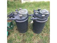 X2 pond filters.