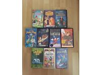 11 Disney Classic VHS Tapes