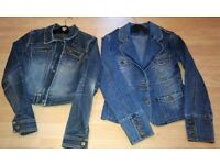 2 x Jane Norman Ladies Size 8/10 (ex con) Denim Jackets