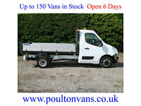 "2015 (15) RENAULT MASTER CCML35 R.W.D 10'9"" ALLOY SIDED TIPPER 125BHP,Dropside"
