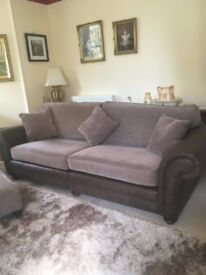 Sofa suite, 4+1+ footstool. £695 for the set.