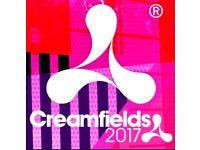 Creamfeilds 2 day weekend camping ticket £220!