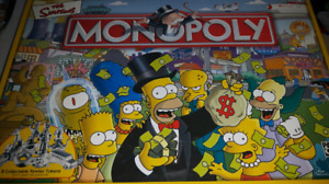 The Simpsons Monopoly Game Complete