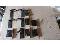 Black rustic door handles