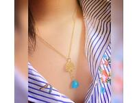 Sea shell & Turquoise Handmade Necklace