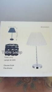table bedroom lamp white brand new