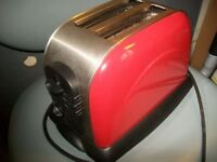 2 Slice Toaster used, White, Green or Red