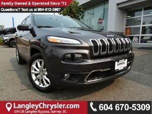 2016 Jeep Cherokee Limited * ACCIDENT FREE * LOCAL BC CAR *