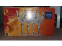 Cristal de France Wine Glasses and Champagne Flutes - unused