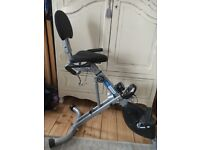 Exercise bike - recumbent - almost new