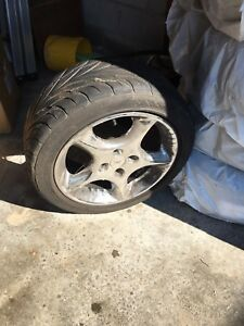 Set of 4 tires and rims (4 bolt) 205/50zr16 87w