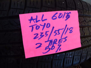 Size: 235/55/18    TOYO		235/55/18		  ALL 6016