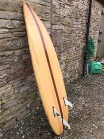 Bespoke wooden surfboard