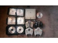 sega dreamcast console bundled and boxed with 4 pads and every single game