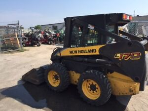 2006 NEW HOLLAND L170 SKID STEER LOADER-CAB WITH HEAT