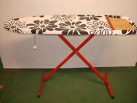 Modern iron board with cover for ironing black & white **can fold down for easy storage, suit rental