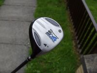 Benross S-4 Spring Steel 17 Degree Fairway 4 Wood Golf Club with Cover : Right Handed Good Condition
