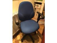 Comfort Ergo 2 Lever Operator Chair With Adjustable Arms - Blue