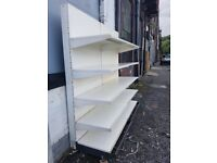 Retail Shelving, High Quality Wall Bay, Great for Shops and Supermarket Shelving. Cheapest Available