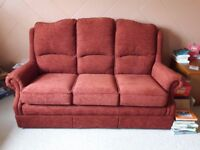Sofa with matching armchair and electric recliner armchair