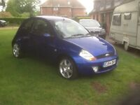 Ford ka sport 1.6 blue with blue/black leather trim 45000mls ! 54/ plate
