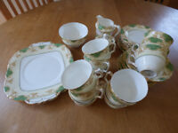 Crown Staffordshire complete 12 setting tea service