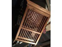 Wooden Pine Plate Rack