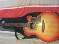 Guitar vintage vec350cs electro/acoustic + bag