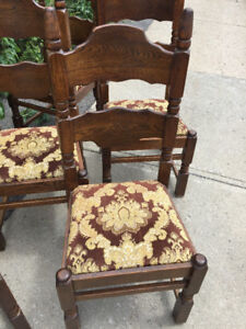 Antique Solid Wood Oak Chairs