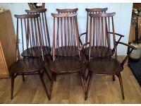 Vintage Retro Ercol Goldsmith Chairs X 6