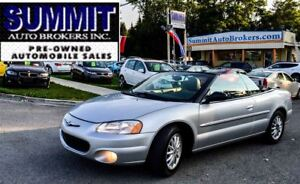 2001 Chrysler Sebring LXI   POWER LEATHER SEATS   POWER ROOF   A