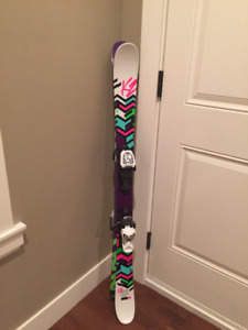 "Kids K2 50"" long skiis & binding"