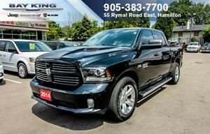 2014 Ram 1500 Sport 4X4, NAVI, BACK-UP CAM, SUNROOF, A/C