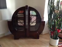 Art Deco Cabinet with back lighting. Very good condition