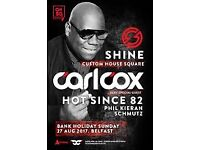 Carl Cox tickets for sold out bank holiday Sunday 27th