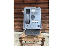 Vintage wall mounted pay phone
