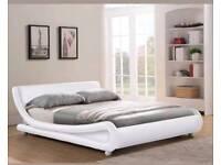 Kingsize 5ft Italian Faux Leather Bed Frame
