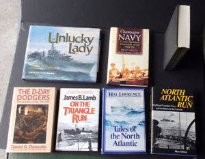Lot of Canadian War/Navy Books