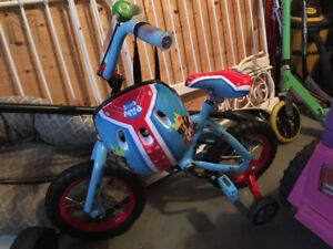 "NEW 12"" Paw Patrol Bike with matching helmet"