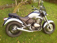 V.low mileage Italian Cruiser-bike: BETA Euro 350 (BetaMotor S.p.A., Florence). Suzuki DR-350 engine