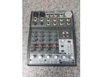 Behringer Xenyx 802 analogue mixer