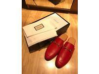 Gucci red shoes slippers