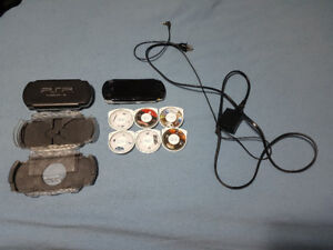 PSP console with 6 games !!!