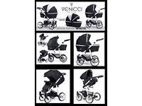 Venicci 3 in 1 travel system pram, pushchair, car seat