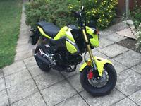 Honda MSX 125cc 2016 - Lime Green / Yellow - 450 miles only!